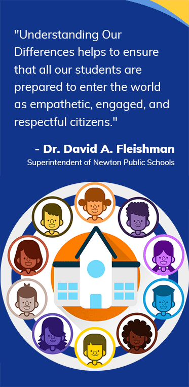 Understanding Our Differences helps to ensure that all our students are prepared to enter the world as empathetic, engaged, and respectful citizens. Dr. David A. Fleishman, Superintendent of Newton Public Schools
